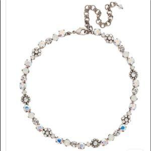 Sorrelli Crystal Floral White Bridal Necklace